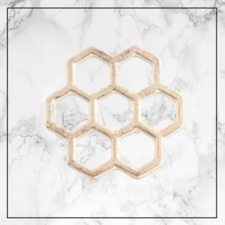 gold-honeycomb-backing-plate